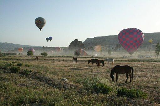 Balloon, Balloons, Ballooning, Cappadocia, Sky, Stone