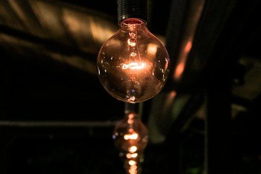 Dark, Night, Light, Bulb, Electricity