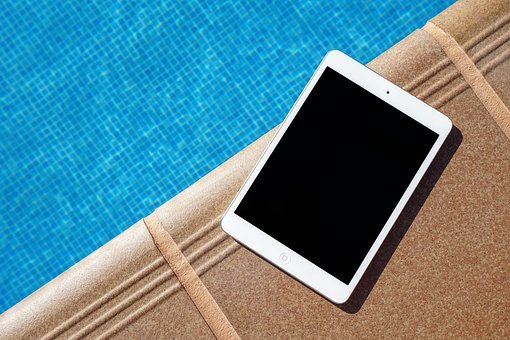 Swimming, Pool, Water, Tablet, Apple, Ipad, Gadget