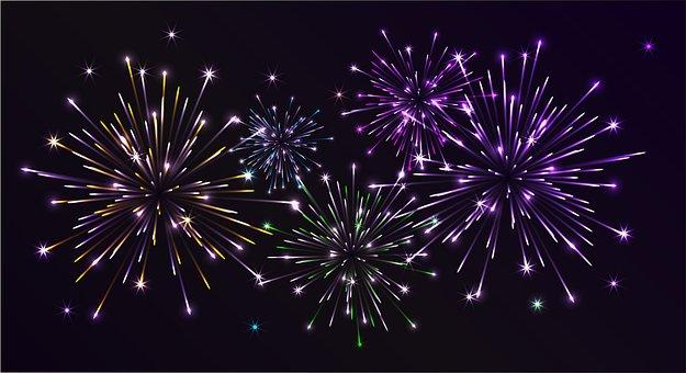 Fireworks, Salute, Night Sky, In The Night Sky, Flash