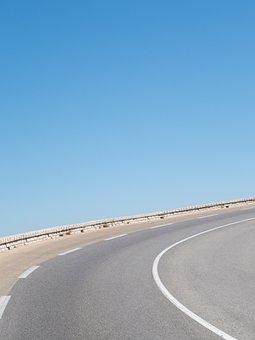 Road, Street, Lane, Blue, Sky, Nature