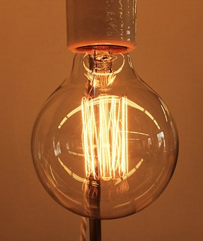 Light, Fixture, Lamp, Bulb, Wire