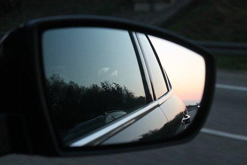 Rear Mirror, Sunset, Auto