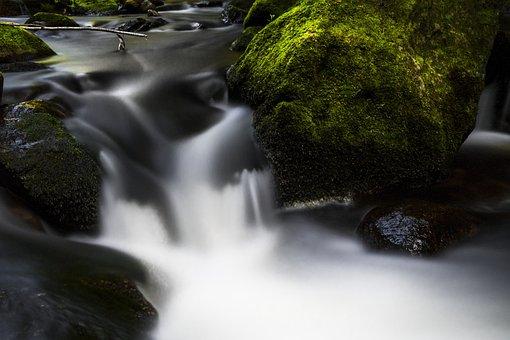 Water, River, Nature, Landscape, Stones, Flow, Bank