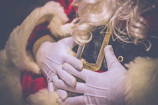 Character, Santa Claus, White, Hand, Glove, Hair