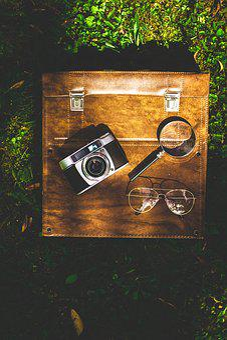 Luggage, Old Camera, Camera, Go Away, Old, Nostalgia