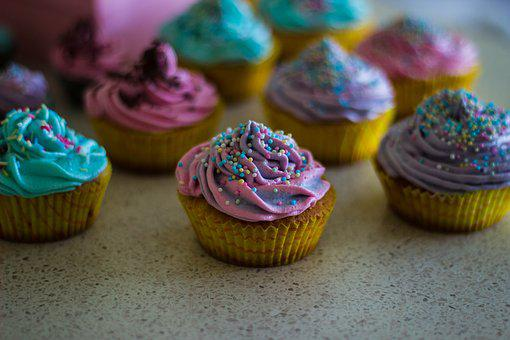 Cupcakes, Colorful, Sweets, Dessert, Cream, Icing
