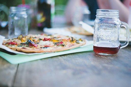 Pizza, Food, Restaurant, Drink, Beverage, Glass