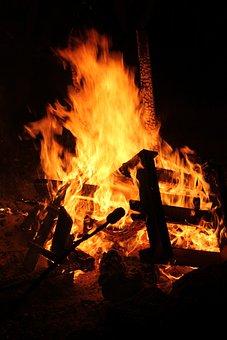 Wood, Campfire, Stick Bread, Summer, Friends