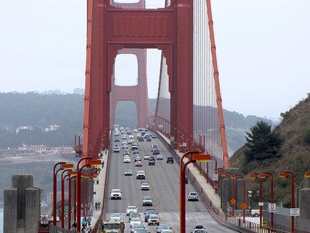 Golden Gate Bridge, San Francisco, Us, Landmark, Water