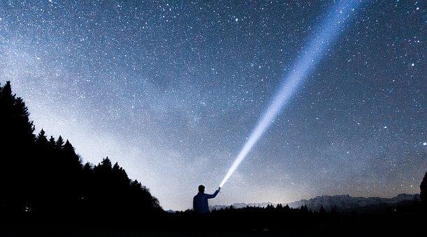 Dark, Night, Sky, Stars, Galaxy, Nature, Tree, Mountain