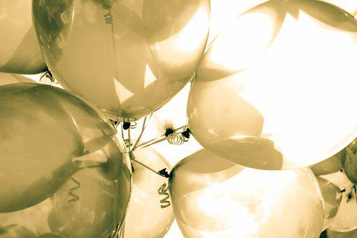 Balloon, Clear, Silver, Sunny, Day
