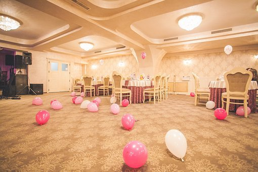 Function, Hall, Reception, Table, Chairs, Balloon