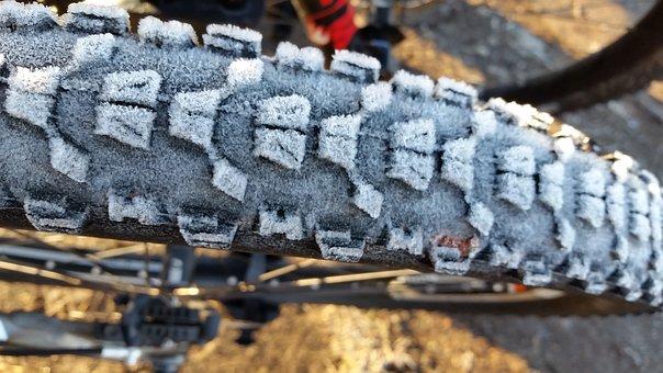 Bike, Tire, Frost, Winter, Biking, Mountain Biking