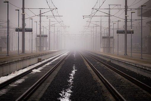 Black And White, Railway, Track, Transportation, Line