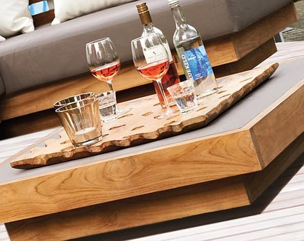 Wooden, Table, Shot, Glass, Alcoholic, Beverage, White