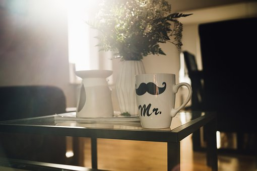 House, Table, Glass, Flower, Vase, Mug, Cup, Display