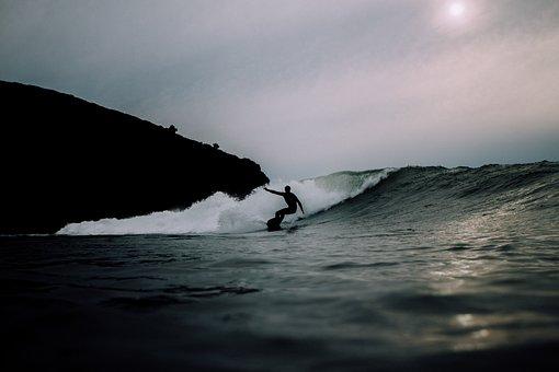 Sea, Ocean, Water, Waves, Nature, Surfing, People, Man