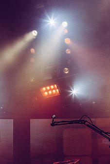 Microphone, Music, Concert, Stage, Spotlight, Night
