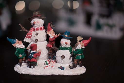 Christmas, Display, Snowman, Toy