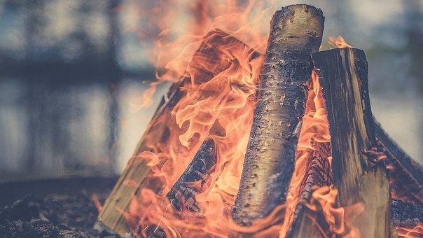 Fire, Flame, Burn, Firewood, Light