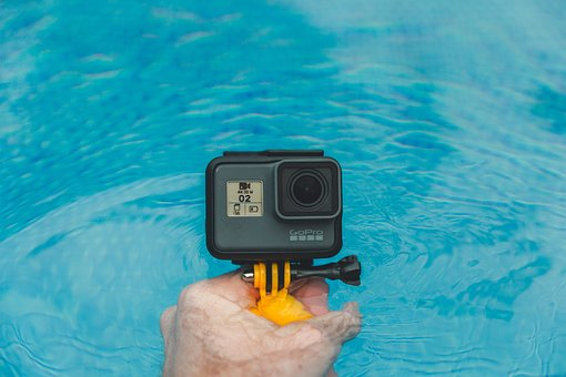 Gopro, Camera, Photography, Hand, Swimming, Pool