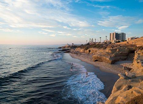 People, Men, Girl, Beach, Shore, Coast, Sea, Ocean
