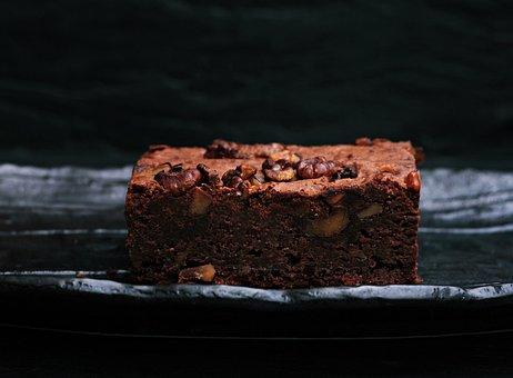 Dessert, Food, Chocolate, Brownie, Sweets, Bake