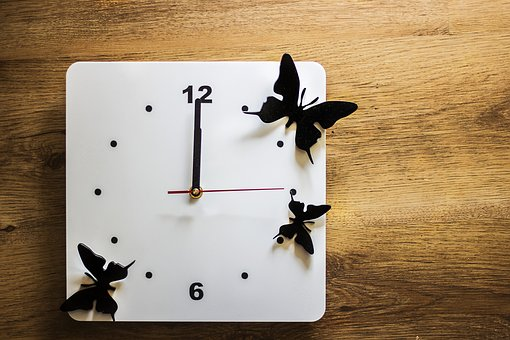 Clock, Time, Butterflies, Measurement Of Time
