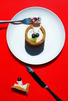 Fork, Bread, Knife, Plate, Fruit, Cupcake, Desserts