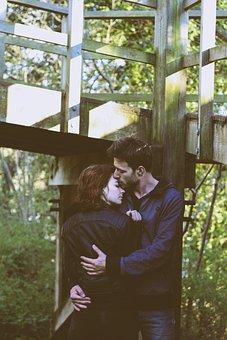 People, Man, Woman, Hug, Kiss, Love, Green, Grass