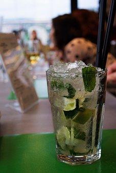 Glass, Ice, Cold, Drink, Beverage, Juice, Lemon, Lime