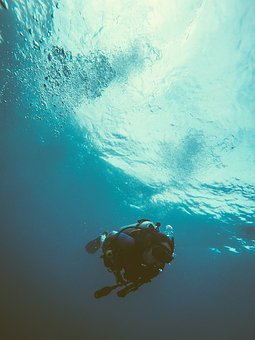 Sea, Ocean, Blue, Water, People, Scuba, Diving, Oxygen