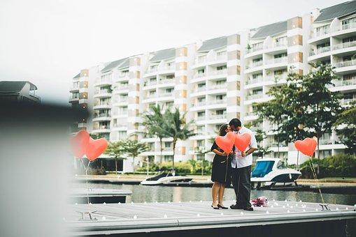 Building, Condominium, Structure, Tree, Water, Balloon