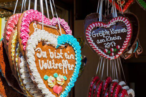 Heart, Gingerbread, Gingerbread Heart, Year Market