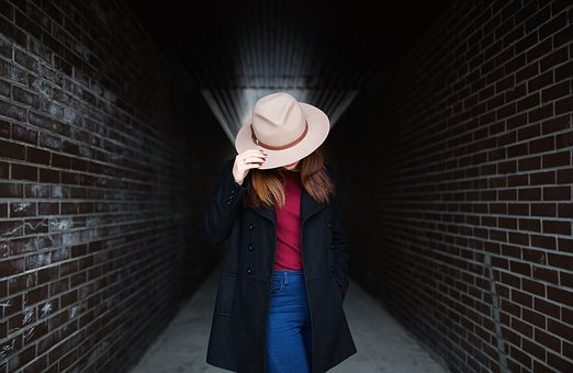 People, Girl, Beauty, Fashion, Clothing, Hat, Alone