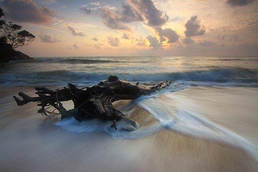 Beach, Sand, Sea, Ocean, Water, Nature, Sky, Clouds