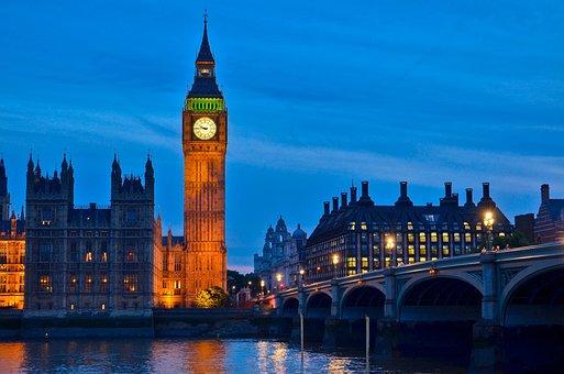 Big Ben, Clock, Lights, Reflection, Dark, Sky