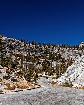 Road, California, National Park, Usa, Yosemite