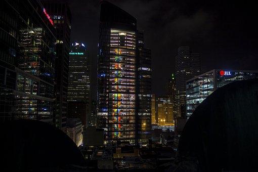 Building, Architecture, Night, Dark, City