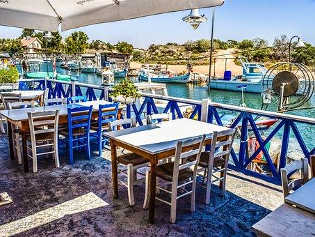 Cyprus, Potamos Liopetri, Fish Tavern, Traditional