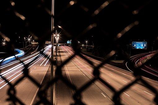 Night, Dark, City, Lights, Road, Street, Wire, Pole