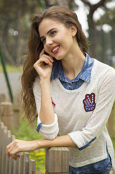 Model, Women's, Laugh, Young Girl, Fashion Shoot