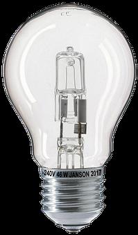 Light Bulb, Halogen, Halogen Lamp, Bulbs, Isolated