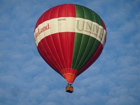 Hot Air Balloon, Air, Blue Sky, Balloon, Clouds, Skies