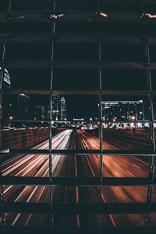 City, Buildings, Dark, Night, Light, Long Exposure