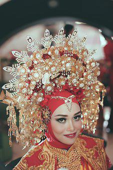 Women, Gorgeous, Indonesian, Light, Red, Face, Culture