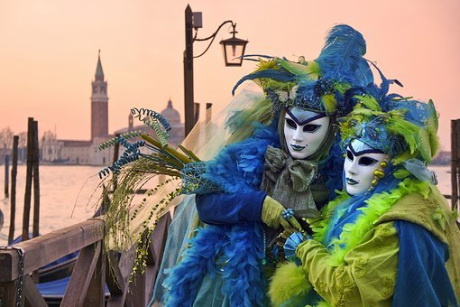 People, Costume, Mask, Clothing, Coloful, Design, Pose