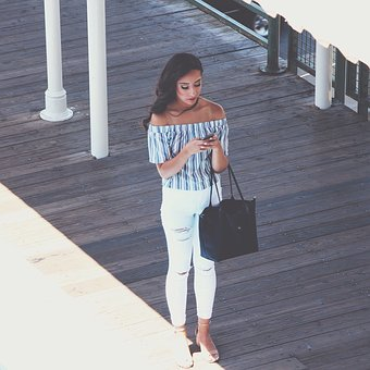 People, Girl, Beauty, Clothing, Fashion, Bag, Phone