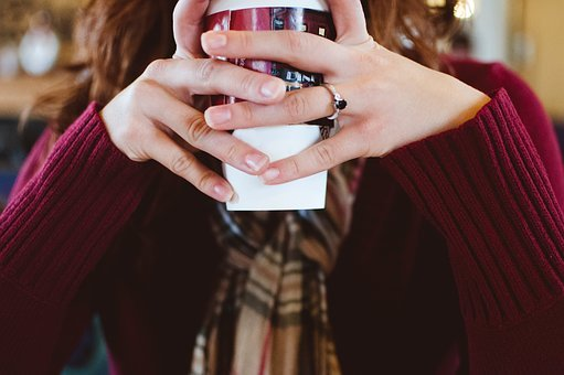 People, Girl, Cup, Drink, Coffee, Hands
